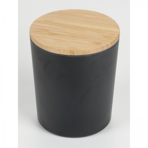 Cutie de depozitare Black Bamboo, Jocca, 12 x 12 x 14.2 cm, bambus, negru/natur