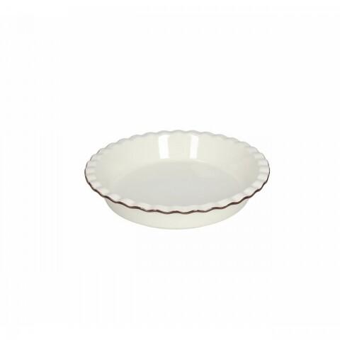 Platou rotund din ceramică, Tognana, Country cook, cherry cream