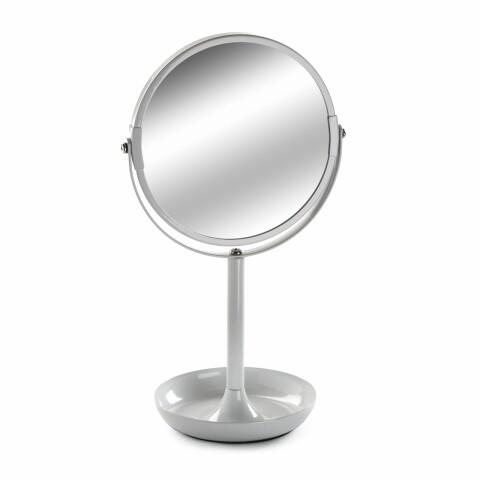 Oglindă pentru machiaj cu picior și suport White