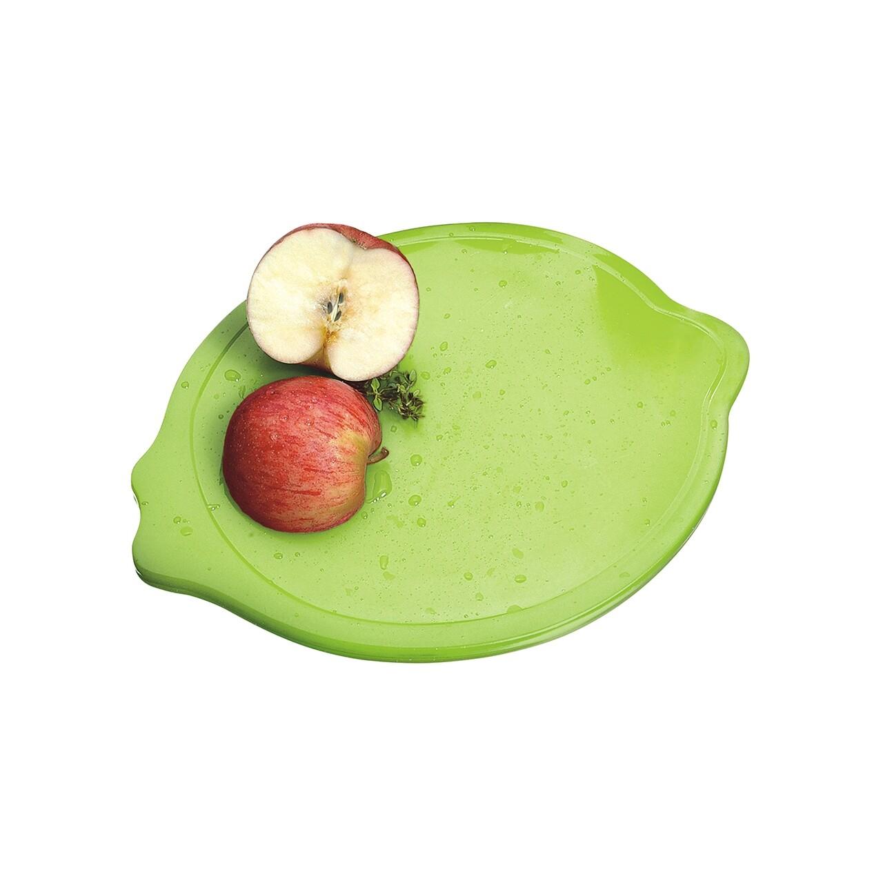Tocator in forma de lamaie, Casar, 0.8 x 21.7 x 28.5 cm, plastic, verde