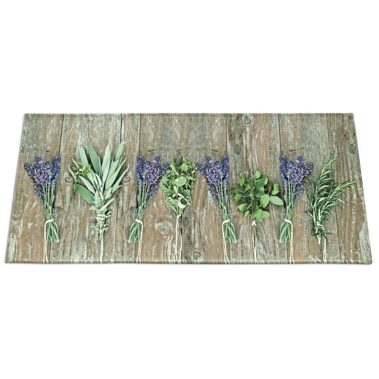 Covor rezistent Webtappeti Lavender 60x190 cm, bej/verde