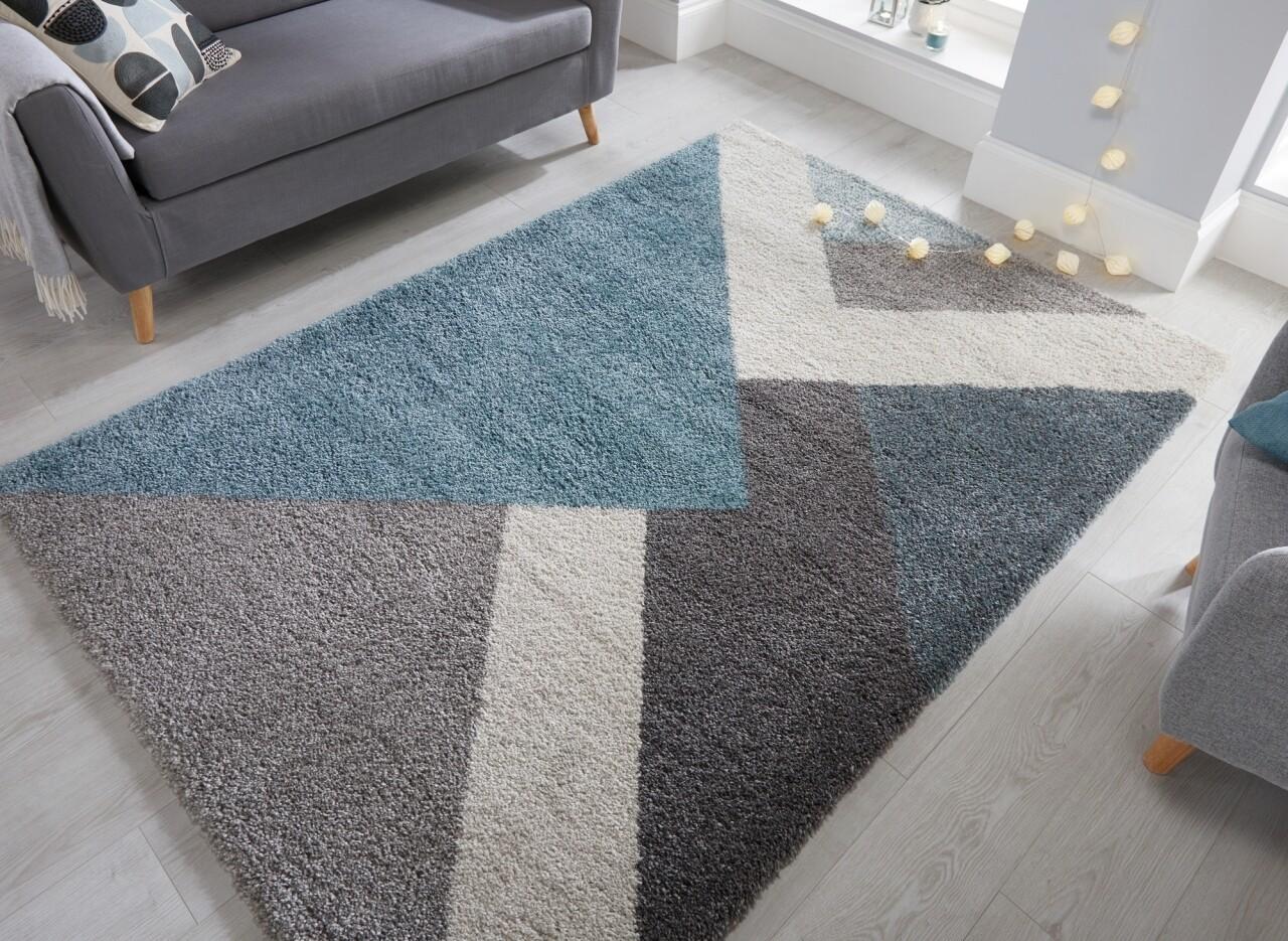 Covor Dakari Zula Multi Blue, Flair Rugs, 160 x 230 cm, 100% polipropilena, albastru/gri