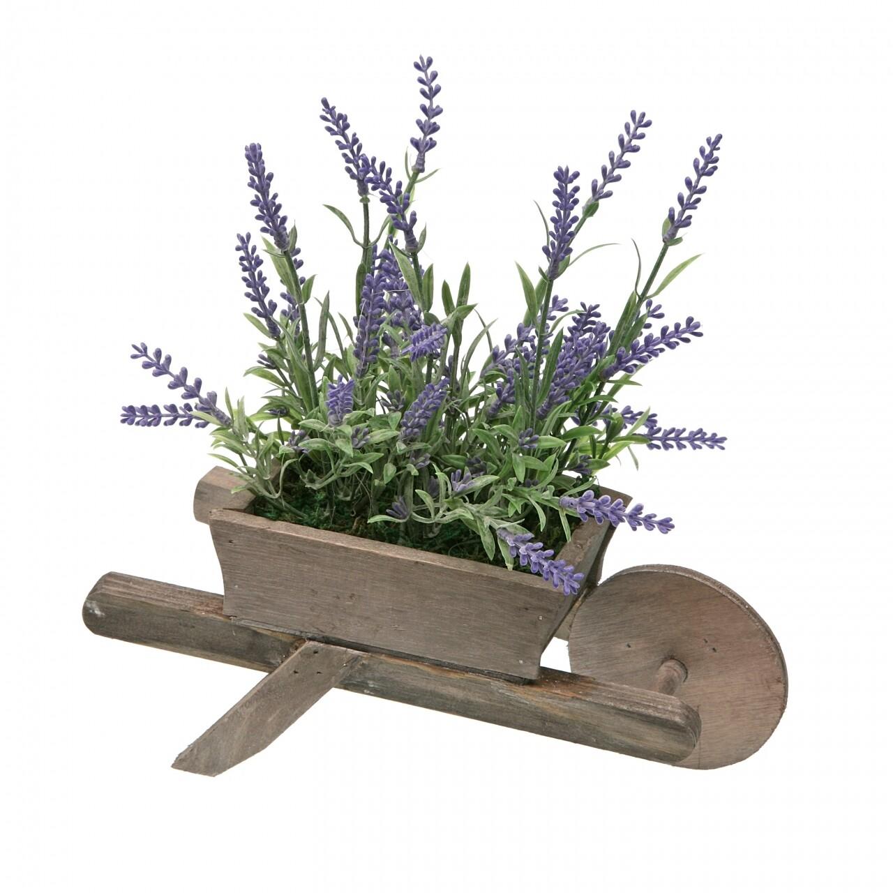 Decoratiune cu planta artificiala Lavender, 26 x 28 cm, metal