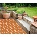Covor indoor outdoor Floorita TRELLIS ORANGE 133X190