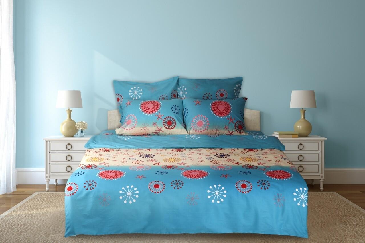 Lenjerie de pat dubla Summer, Heinner Home, 6 piese, 200x220 cm, 100% bumbac, multicolora