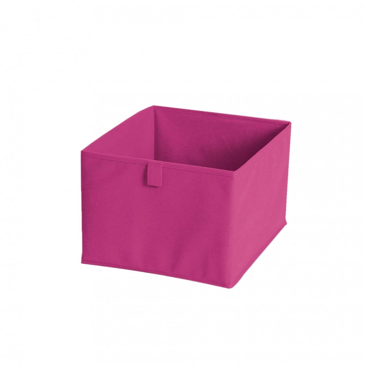 Cutie de depozitare Fuchsia, Jocca, 19 x 30 x 30 cm, PVC, roz