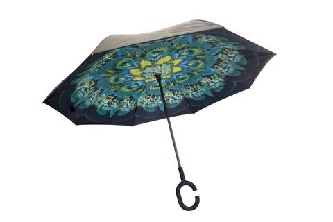 Umbrela reversibila Peacock Bedora