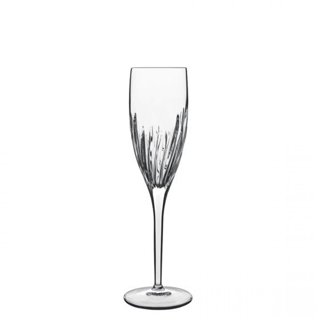 Set 6 pahare sampanie Incanto Flute, Luigi Bormioli, 177 ml, cristalit, transparent