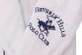 Halat de baie unisex, Beverly Hills Polo Club, 100% bumbac, S/M, White/Dark Blue