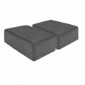 Set 2 cuburi Yoga Grey 23x14x8 cm