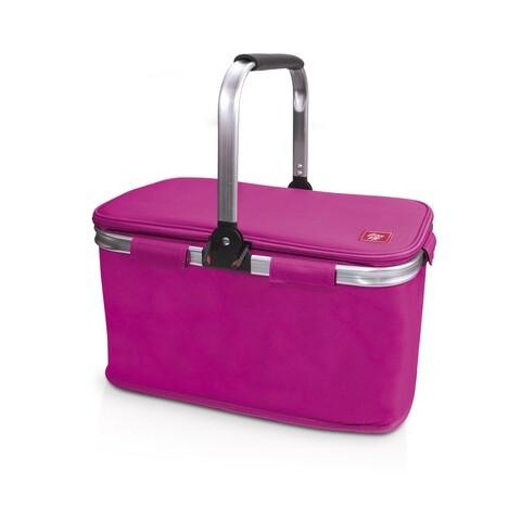 Cos frigorific termoizolant pentru picnic Iris Barcelona, 43x24x27 cm, poliester, roz
