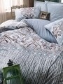 Lenjerie de pat pentru o persoana, 3 piese, 100% bumbac ranforce, Cotton Box, Verona