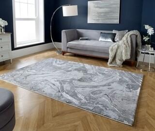 Covor Marbled Silver, Flair Rugs, 200 x 290 cm, polipropilena, gri