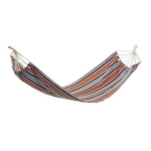 Hamac Exotic Stripes, Heinner, 200x80 cm, portocaliu/albastru