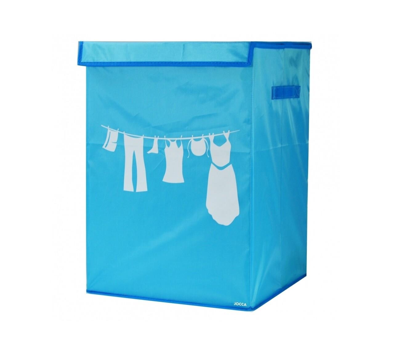 Cos pentru rufe pliabil Blue, 35 x 35 x 50 cm (60 L), poliester, albastru