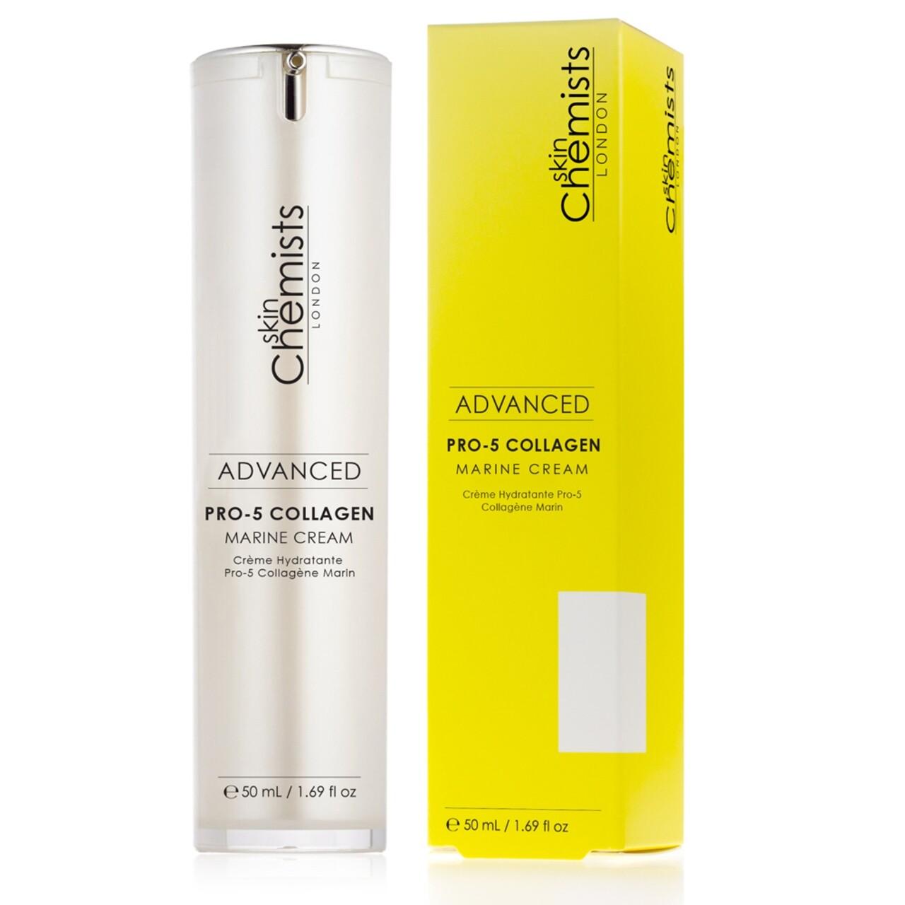 Crema de zi cu colagen Pro-5, SkinChemists, Advanced Marine Cream, 50 ml