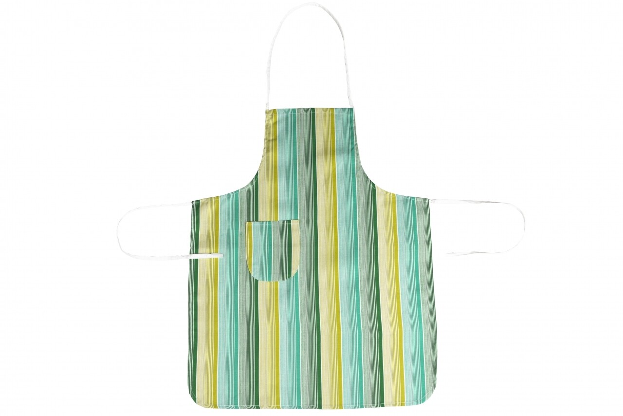 Sort de bucatarie, 100% bumbac, Green Stripes