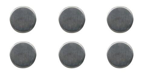 Set 6 magneti Compactor, 2.5 x 0.7 cm, inox, argintiu