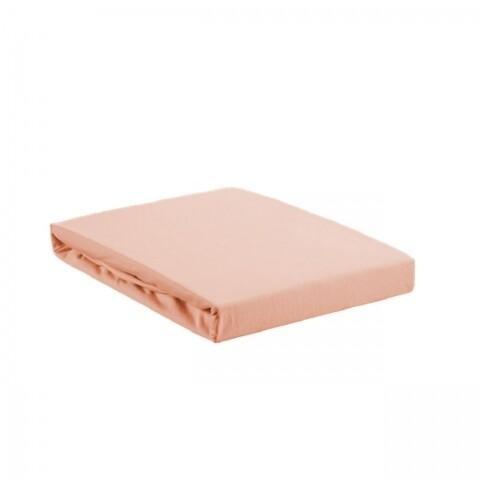 Cearceaf elastic pentru pat Rose Bedora, 140 x 200 cm, 100% bumbac, roz
