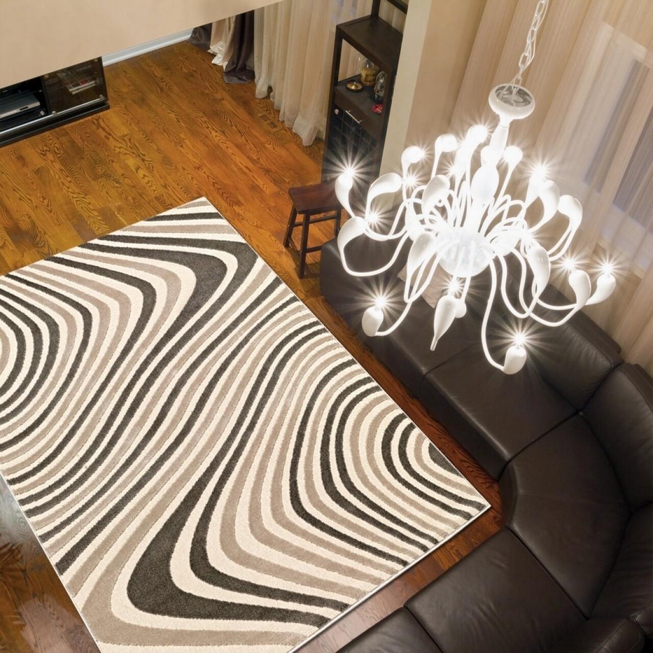 Covor Reflex, Floorita, 160 x 230 cm, 100% polipropilena, bej/maro
