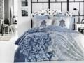 Lenjerie de pat pentru o persoana, 3 piese, 100% bumbac poplin, Hobby, Mirella Royal, albastru