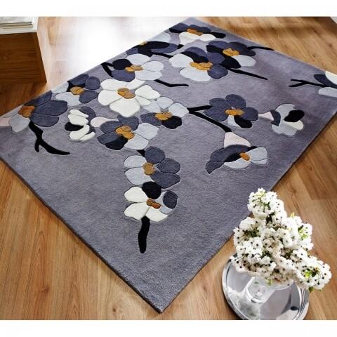 Covor Infinite Blossom Grey/Ochre 80X150 cm