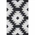 Covor rezistent Eko, AFR 01 - Black, White, 100% bumbac,  160 x 230 cm