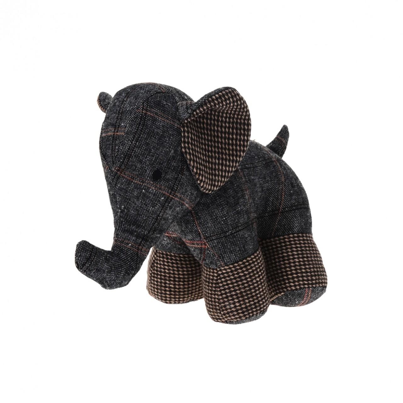 Opritor pentru ușă Elephant Black 28x17x23 cm