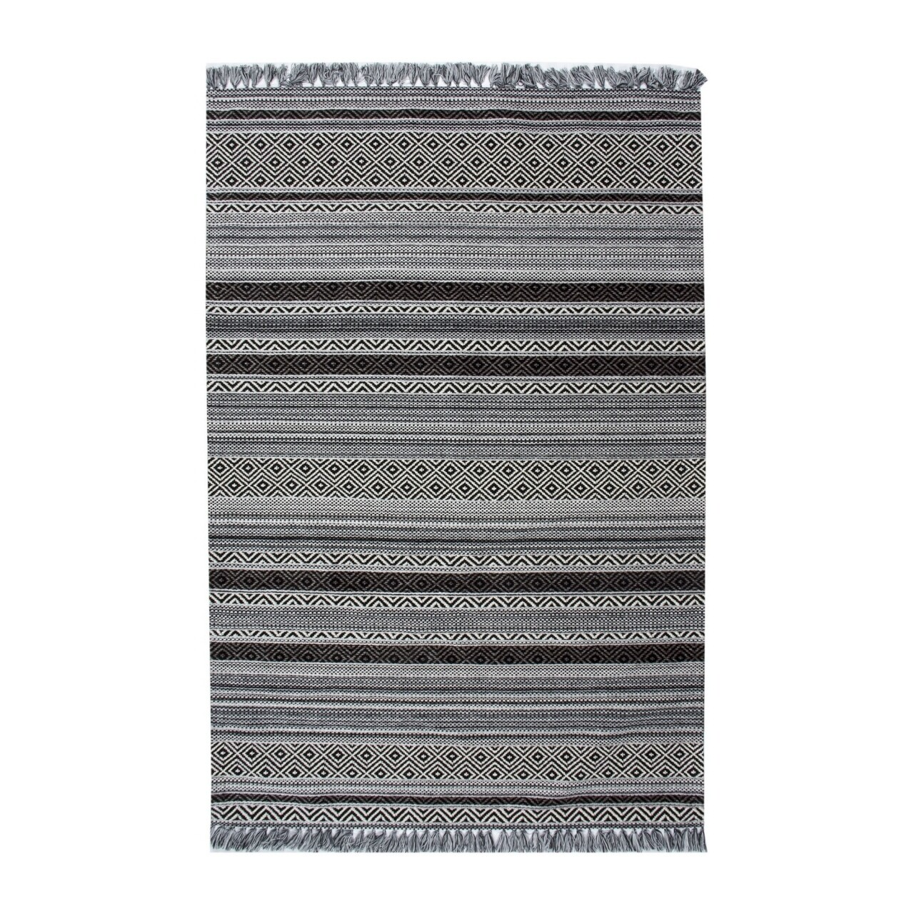 Covor rezistent IN 02 - White, Black, 120x180 cm
