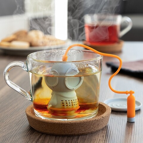 Infuzor ceai InnovaGoods Diver·T,  Ø3 x 6 cm, silicon