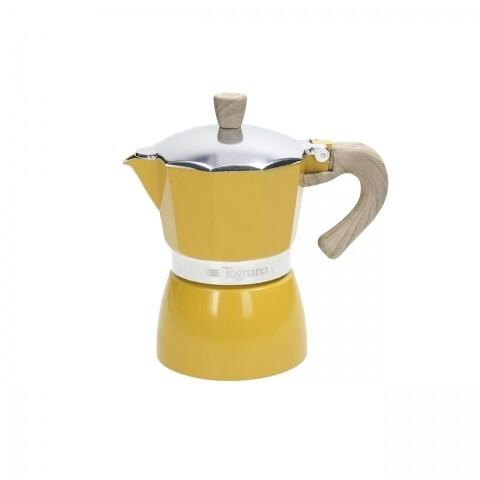 Cafetieră 3 porții, Tognana, Vintage Yellow