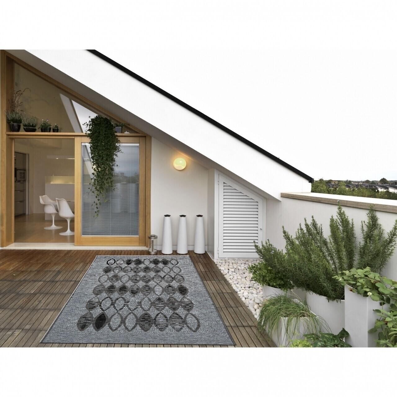 Covor indoor outdoor Floorita ETHNIC GREY 135X190