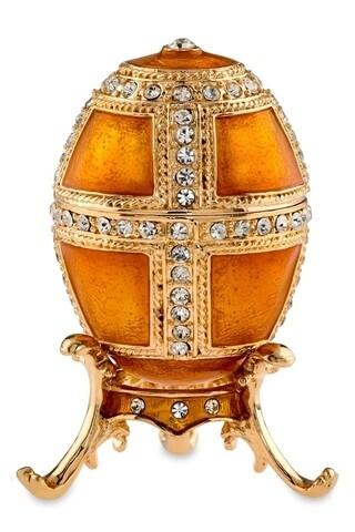 Cutie decorativa Egg,  Hermann Bauer, 4x7.5 cm, galben