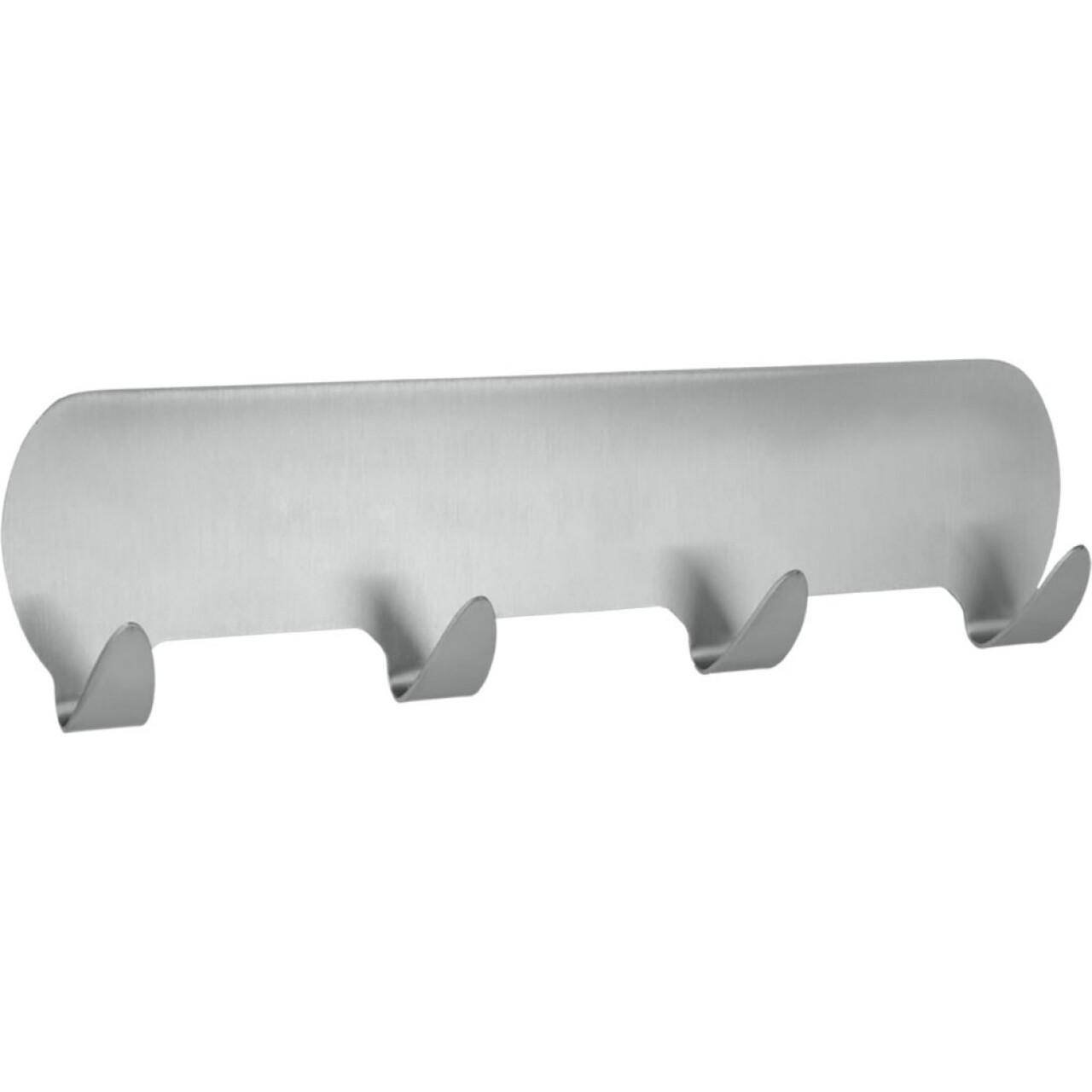 Cuier autoadeziv Metaltex, 18 cm, inox, argintiu