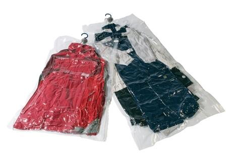 Set 2 huse de vidat pentru haine, Compactor, M+L, cu suport de agatat