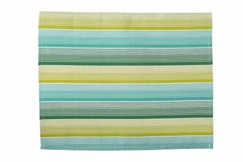 Suport pentru farfurie 30x48 cm, 100% bumbac, 100% bumbac, Green Stripes