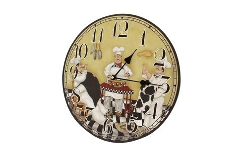 Ceas de perete Chef, Bedora, Ø 34 cm, multicolor