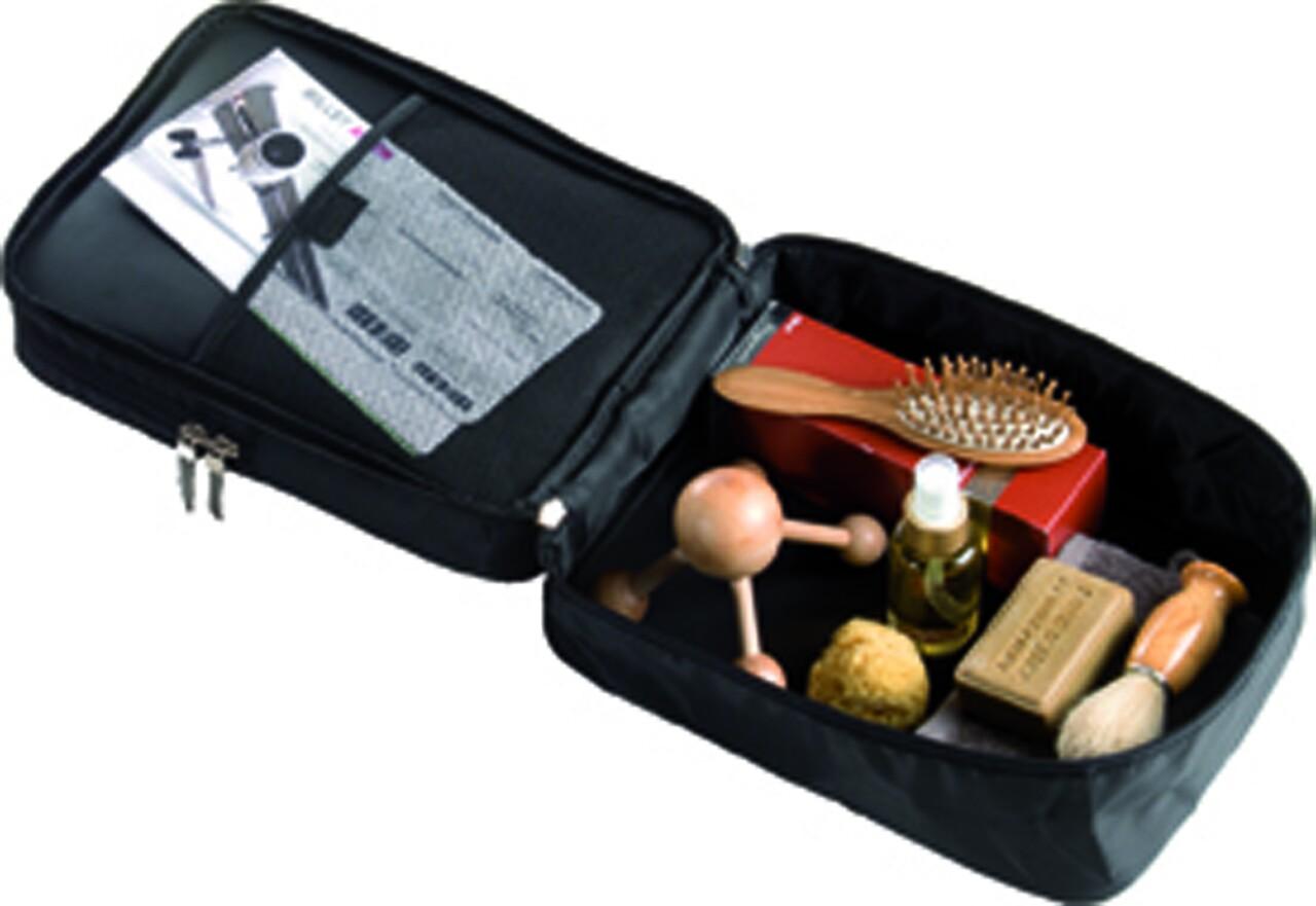 Trusa cosmetice pentru calatorii, Compactor, 29x21.5x13 cm, negru