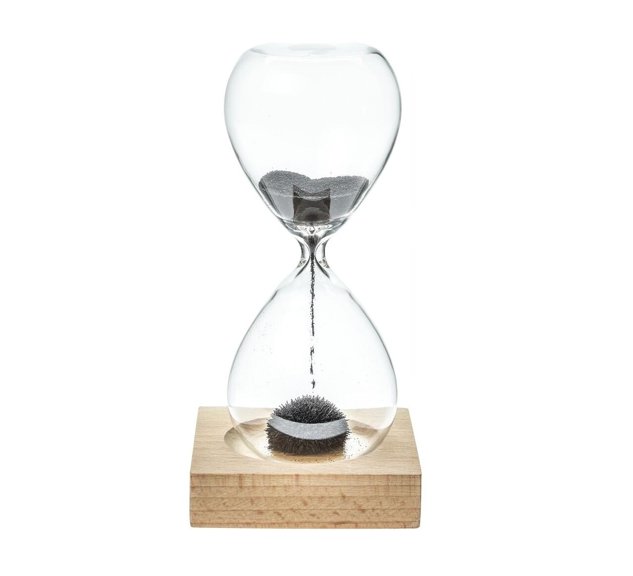 Clepsidra cu nisip magnetic, 6x14 cm, sticla