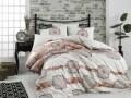Lenjerie de pat pentru o persoana, 3 piese, 100% bumbac ranforce, Hobby, Manuela 2, multicolora