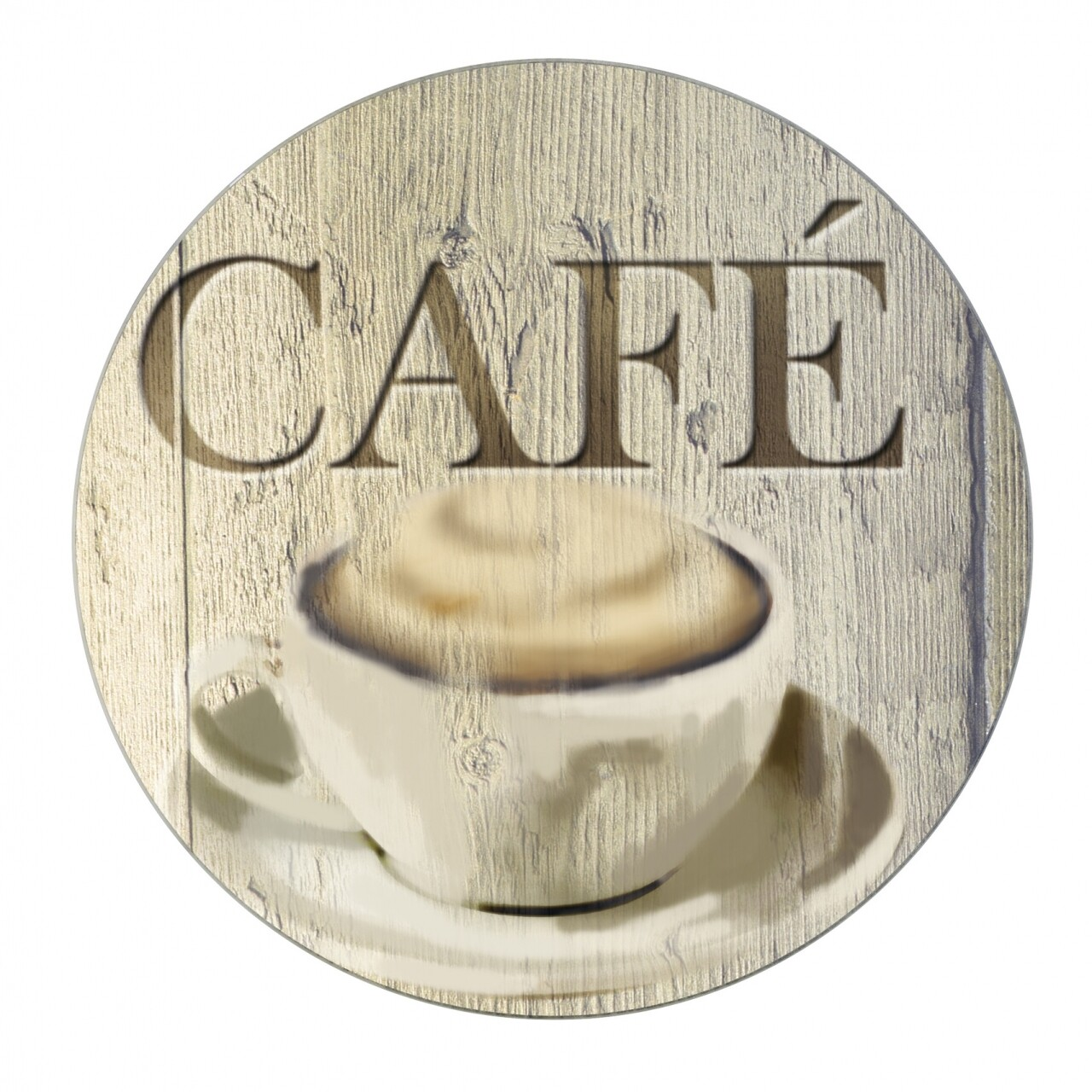 Suport pentru recipiente fierbinti Cafe, Wenko, Ø 20 cm, sticla/silicon, negru/rosu