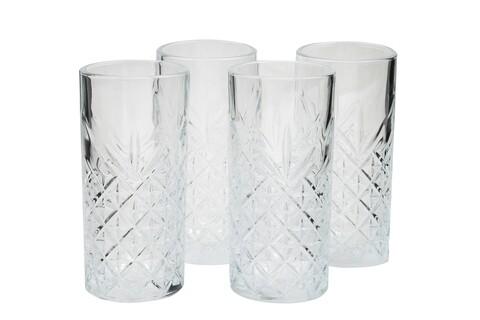 Set 4 pahare Mist, Pasabahce, 14.3 x 6.2 x 6.7 cm, sticla, transparent