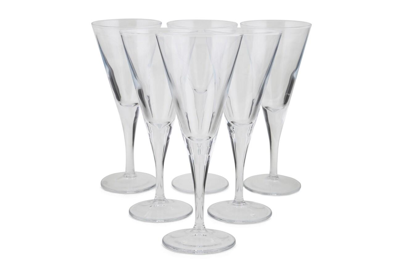 Set 6 pahare martini Simplicity, Pasabahce, 20.9 x 7.5 x 8.7 cm, sticla, transparent