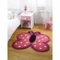 Covor Kiddy Play Polka Butterfly Multi 90X90 cm