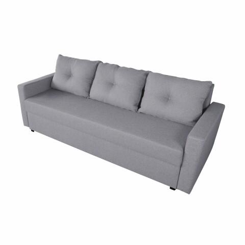 Canapea Mădălina Lux Grey 218x85x85cm cu ladă de depozitare