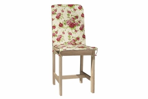 Husa spatar scaun 47x100 cm, Pink Flower, 100% bumbac, roz