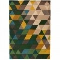 Covor Illusion Prism Green/Multi, Flair Rugs, 160 x 220 cm, 100% lana, multicolor