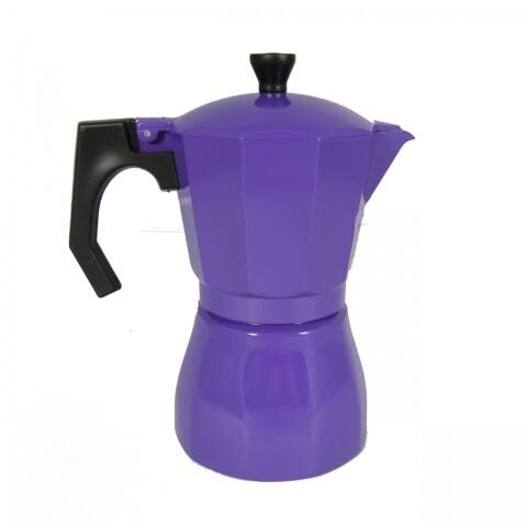 Cafetiera Italian Purple, Jocca, 10 x 16 x 19 cm, aluminiu, mov