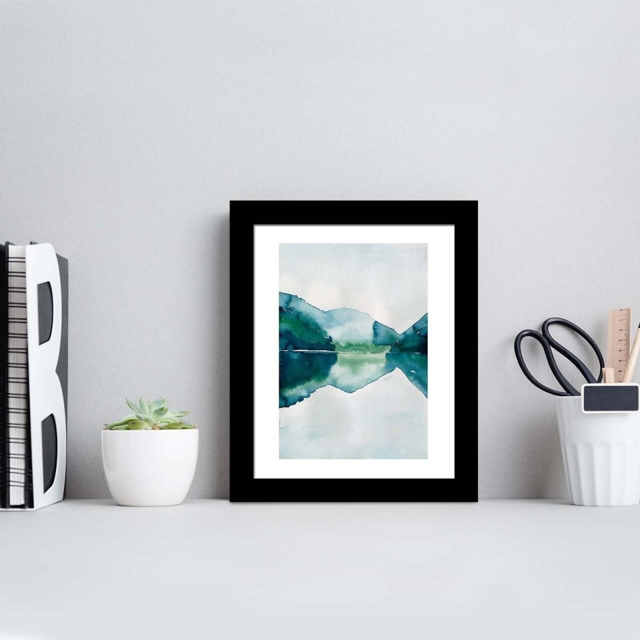 Tablou decorativ, Alpha Wall, Mountain Lake, 23x28 cm
