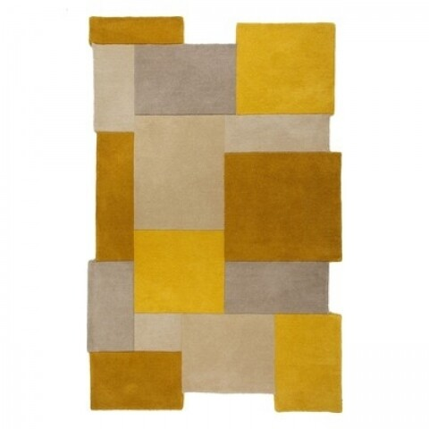 Covor Abstract Collage Ochre 120x180 cm